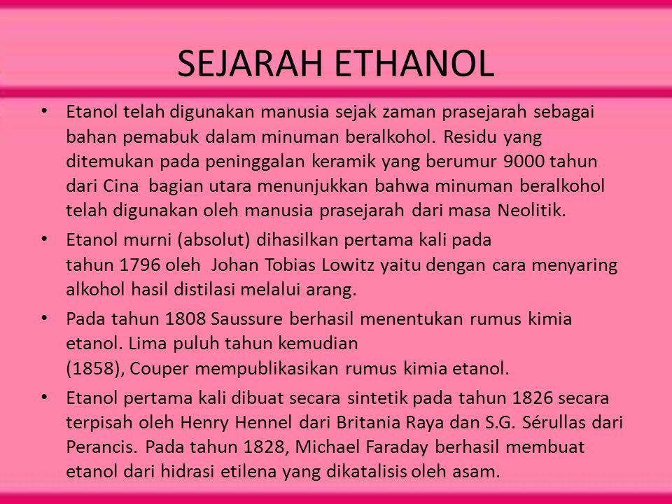 SEJARAH ETHANOL