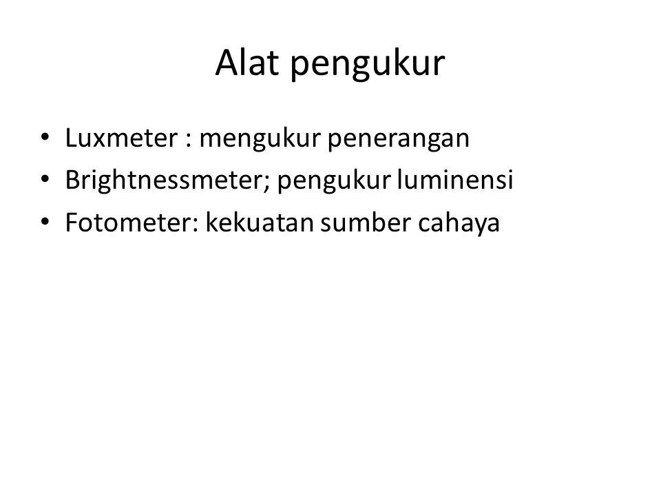 Alat pengukur Luxmeter : mengukur penerangan