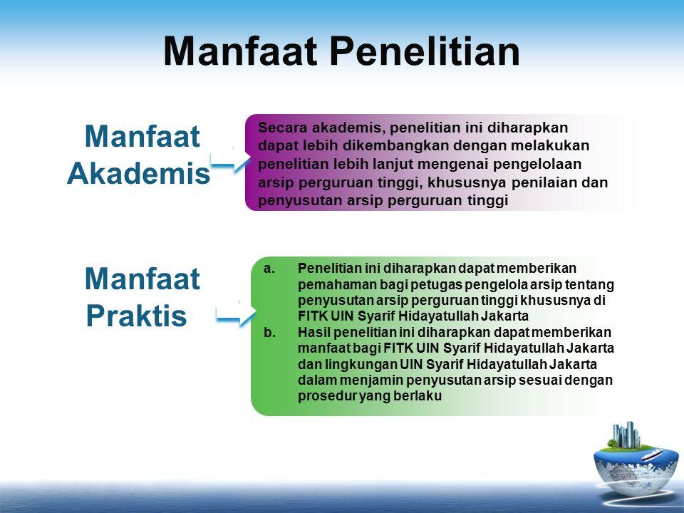 Manfaat Penelitian Manfaat Akademis Manfaat Praktis
