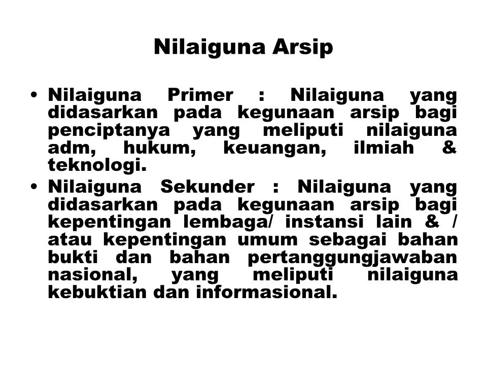 Nilaiguna Arsip