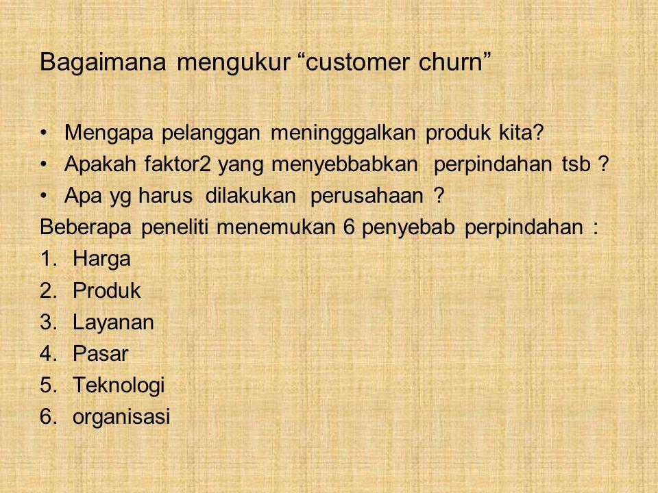 Bagaimana mengukur customer churn