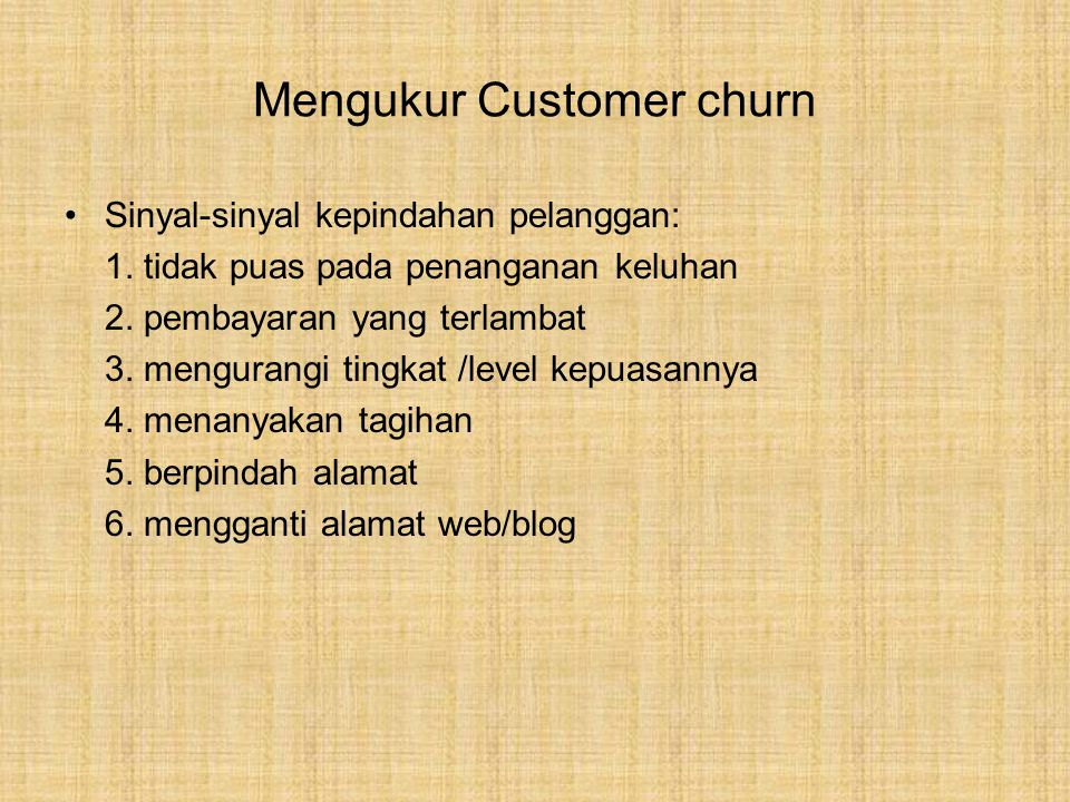 Mengukur Customer churn