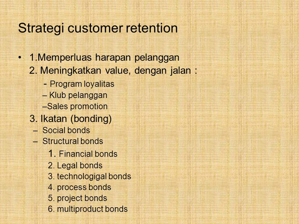 Strategi customer retention