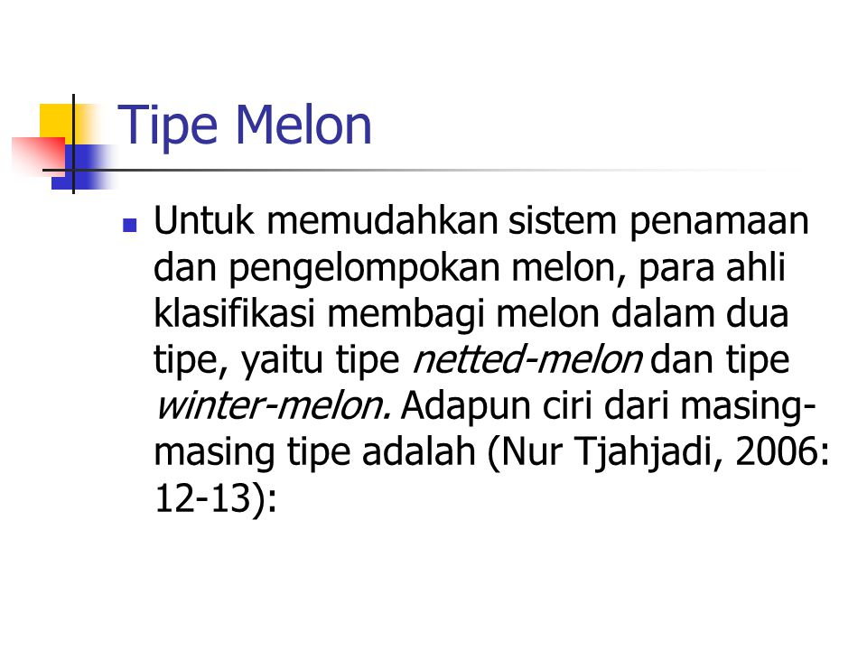 Tipe Melon