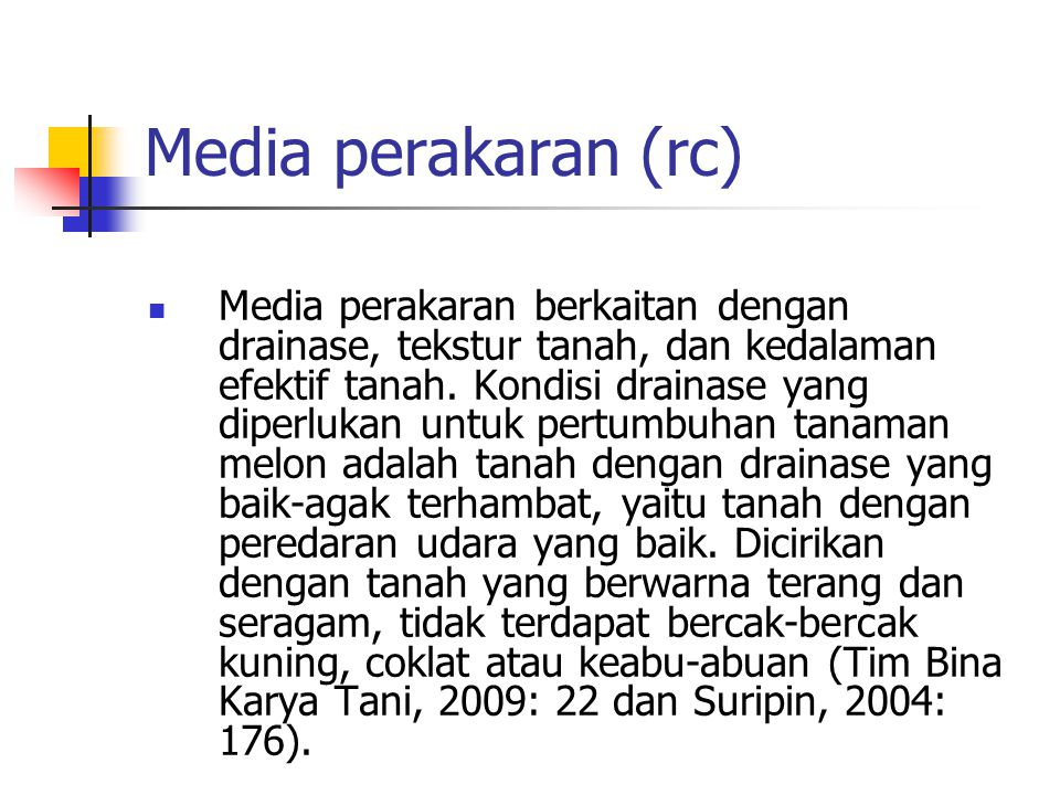 Media perakaran (rc)