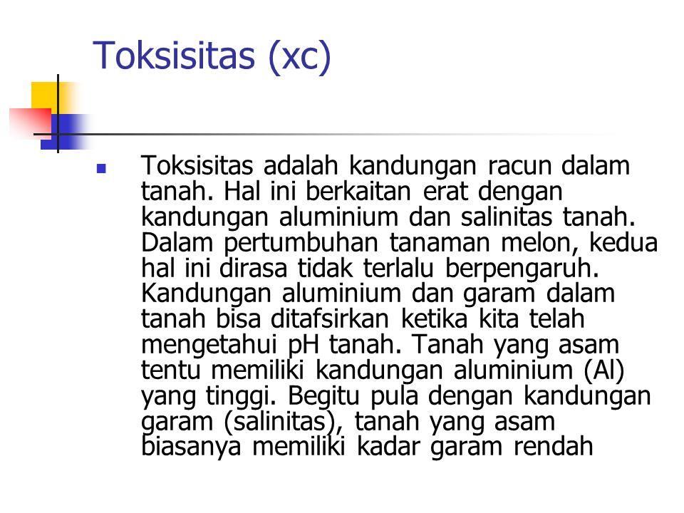 Toksisitas (xc)