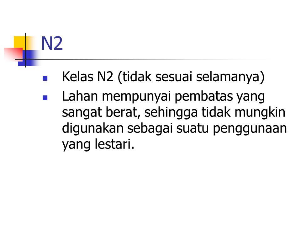 N2 Kelas N2 (tidak sesuai selamanya)