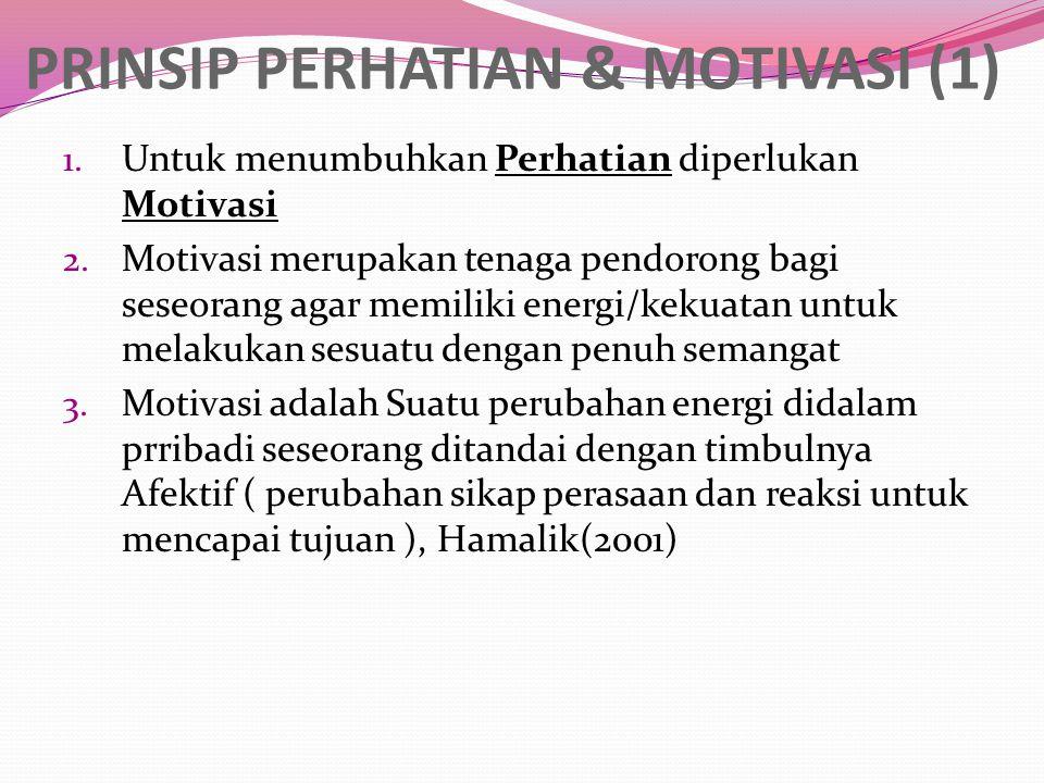 PRINSIP PERHATIAN & MOTIVASI (1)
