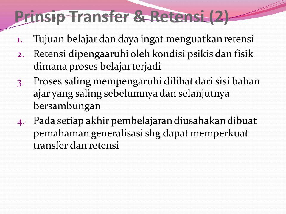 Prinsip Transfer & Retensi (2)