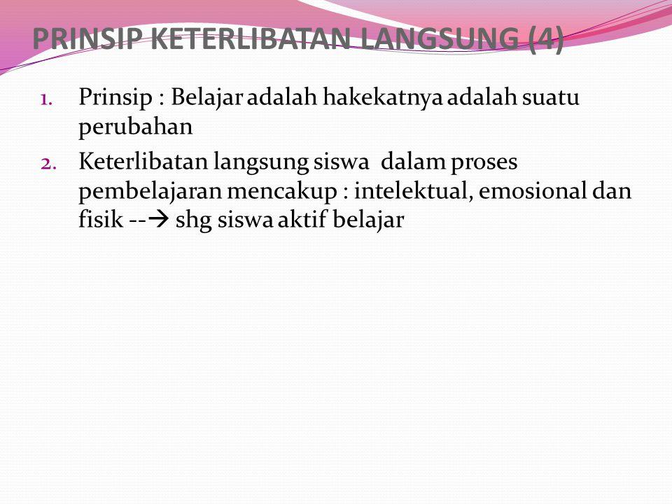 PRINSIP KETERLIBATAN LANGSUNG (4)