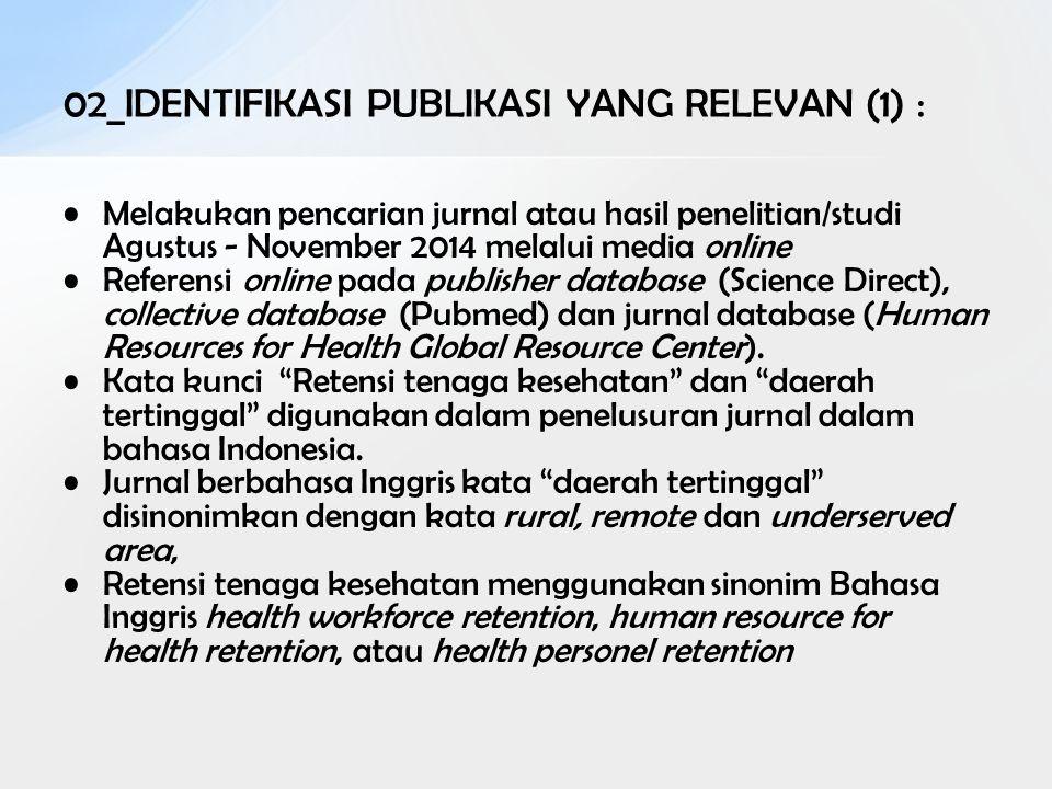 02_IDENTIFIKASI PUBLIKASI YANG RELEVAN (1) :