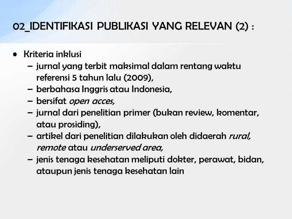 02_IDENTIFIKASI PUBLIKASI YANG RELEVAN (2) :