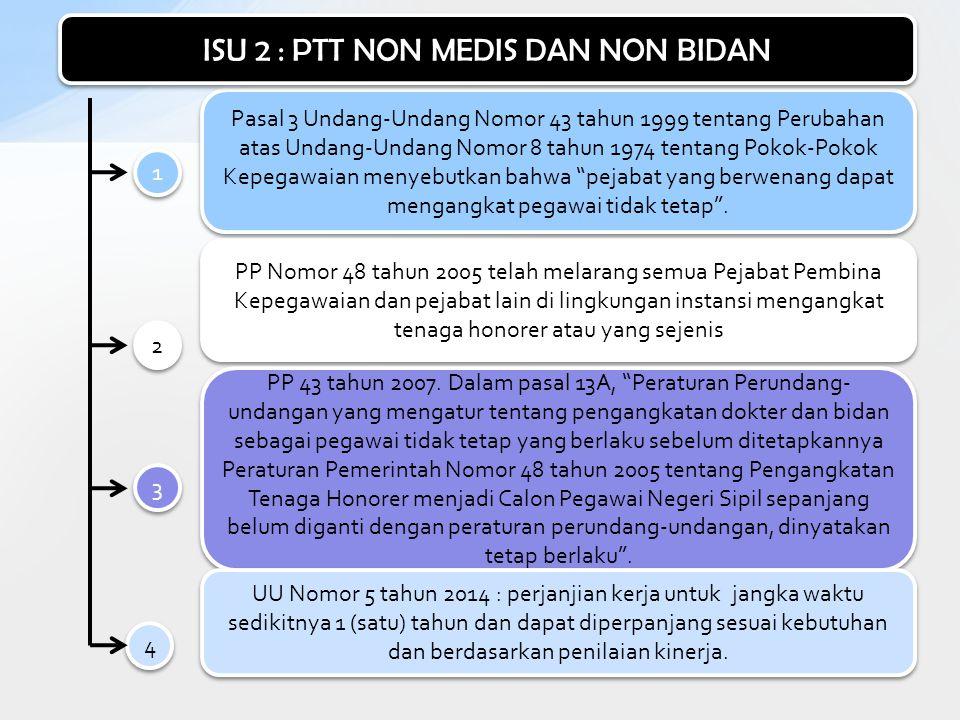 ISU 2 : PTT NON MEDIS DAN NON BIDAN