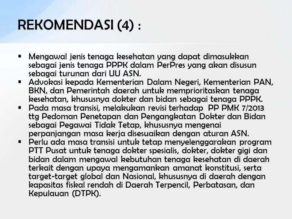 REKOMENDASI (4) :