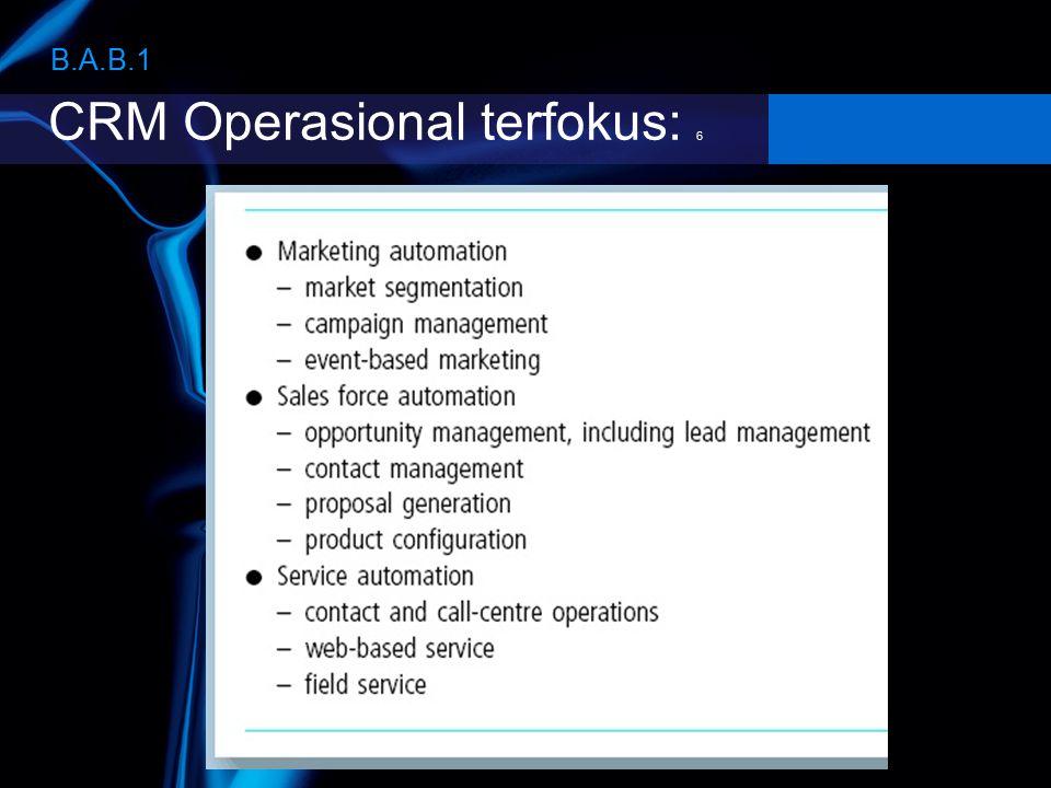 CRM Operasional terfokus: 6