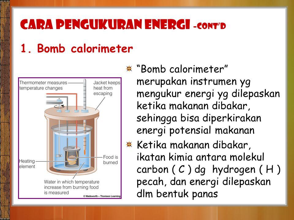 CARA PENGUKURAN ENERGI –cont'd