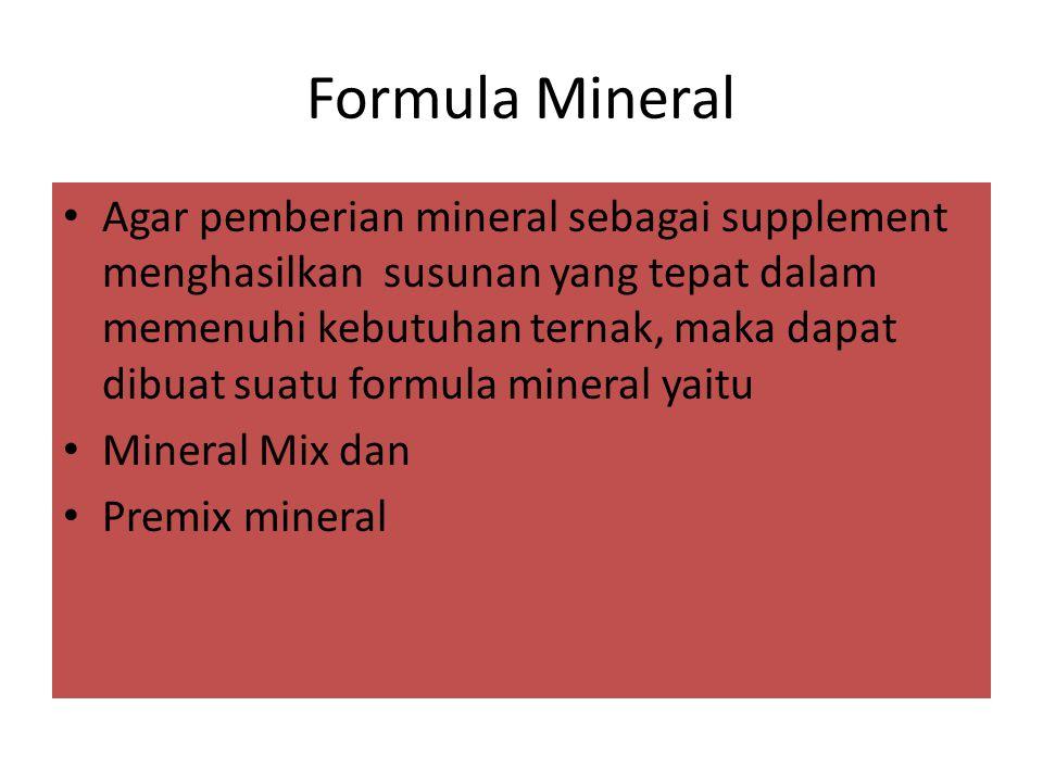 Formula Mineral