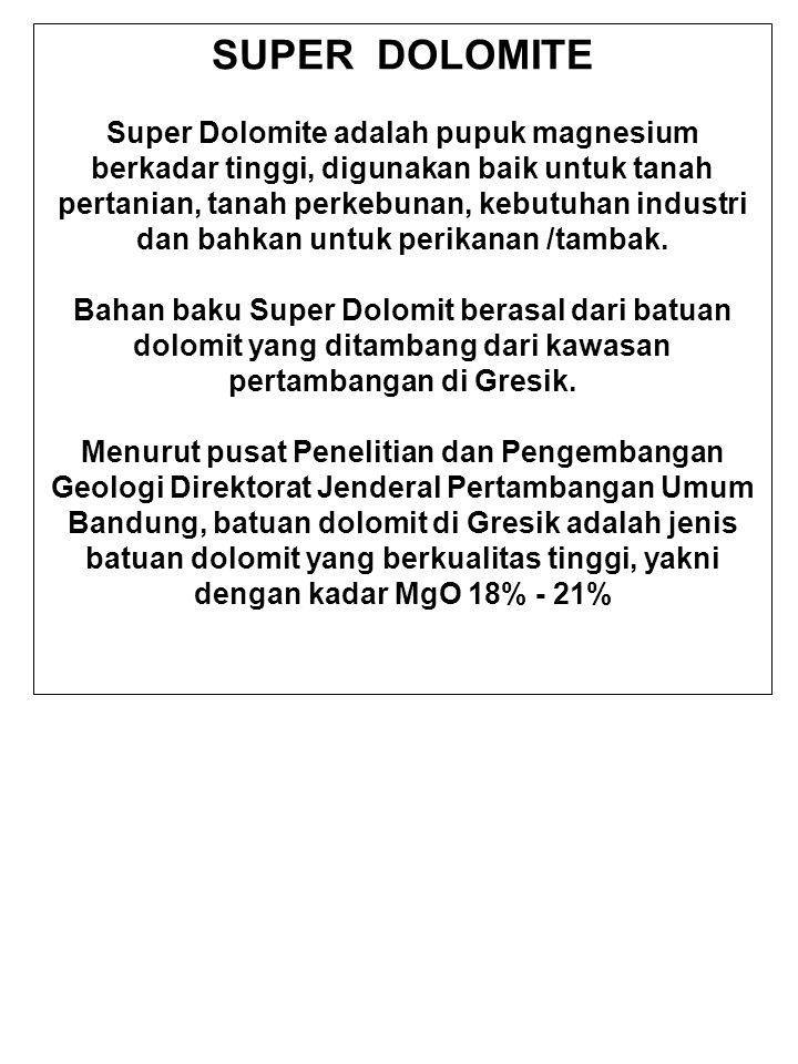 SUPER DOLOMITE