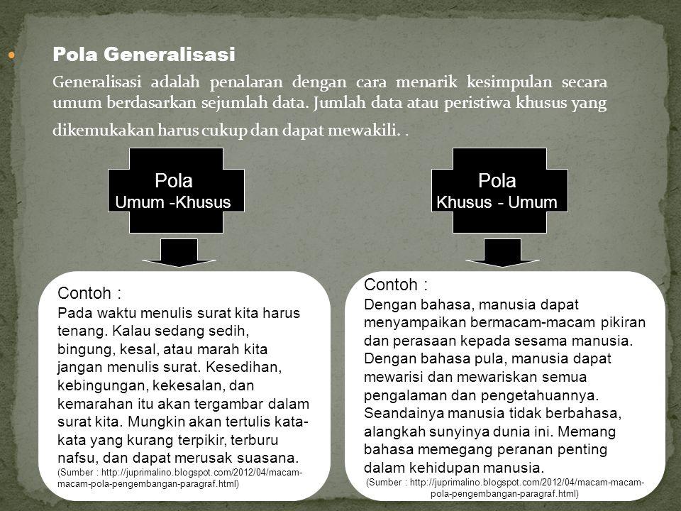 Pola Generalisasi Pola Pola