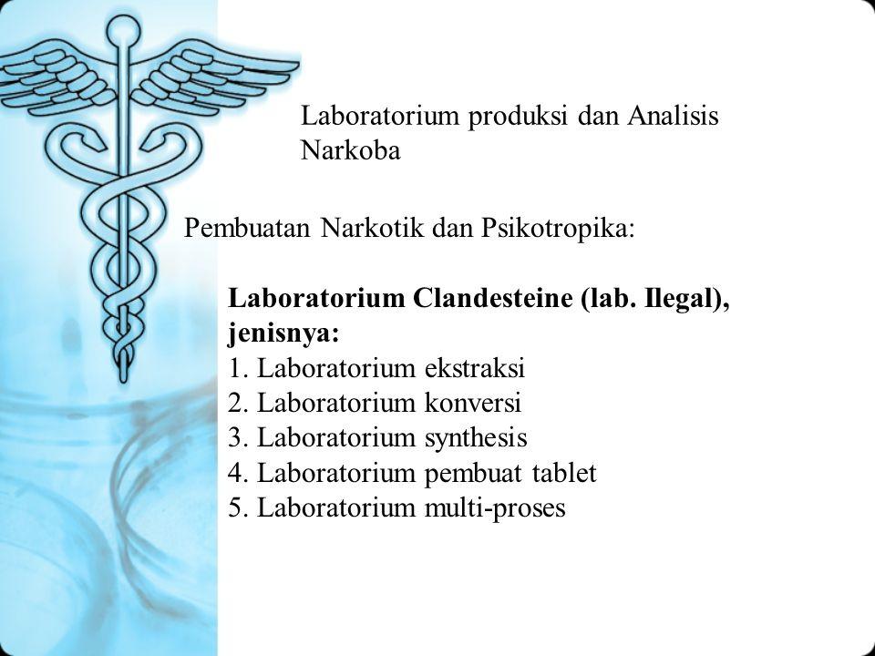 Laboratorium produksi dan Analisis Narkoba