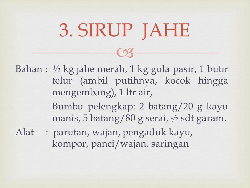 3. SIRUP JAHE