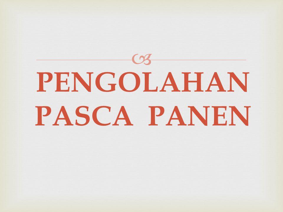 PENGOLAHAN PASCA PANEN