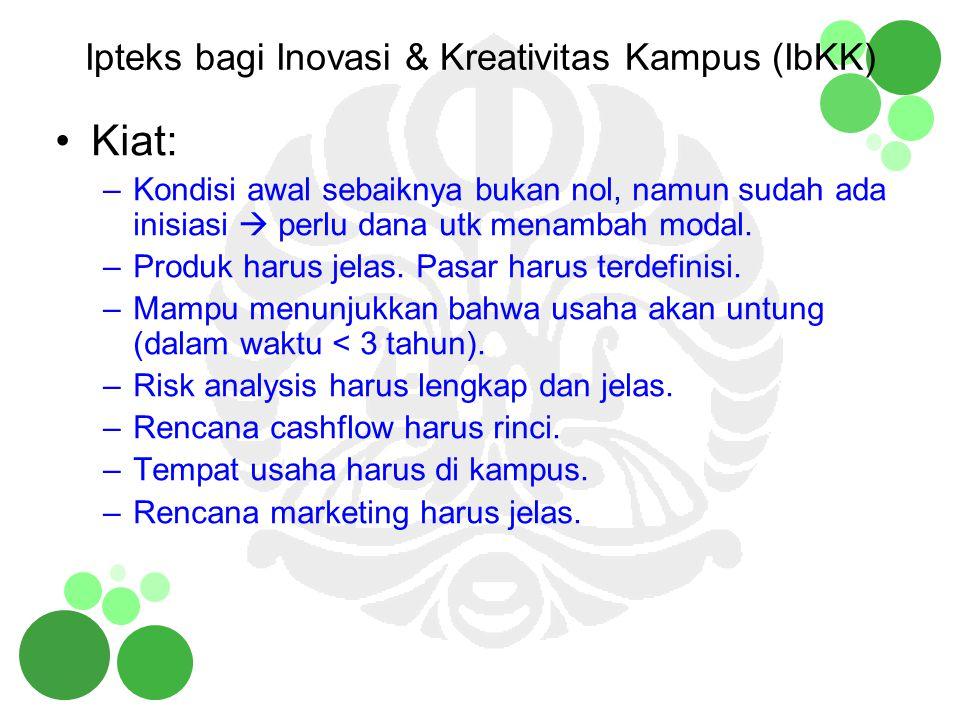Ipteks bagi Inovasi & Kreativitas Kampus (IbKK)