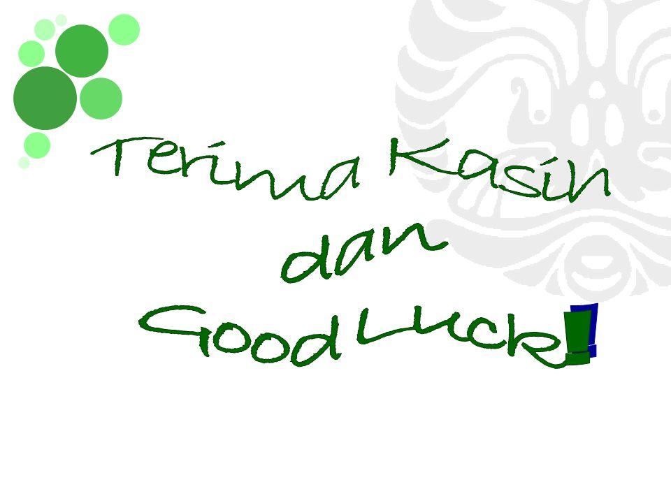 Terima Kasih dan Good Luck!