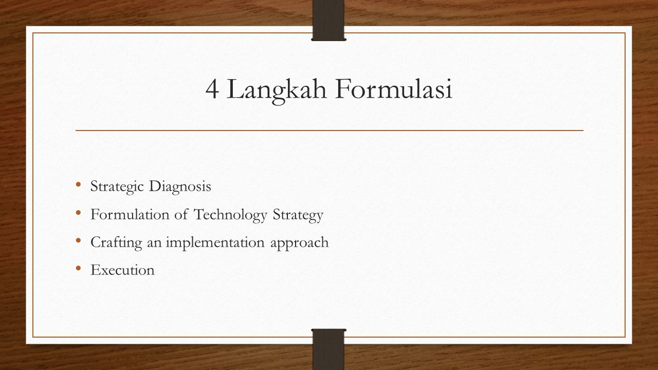 4 Langkah Formulasi Strategic Diagnosis
