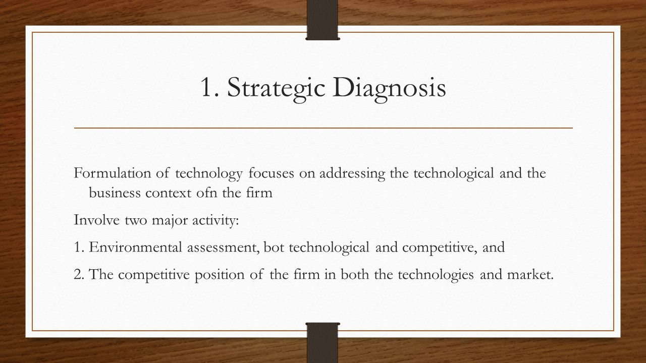 1. Strategic Diagnosis