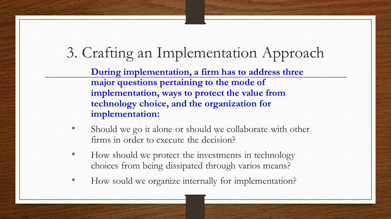3. Crafting an Implementation Approach