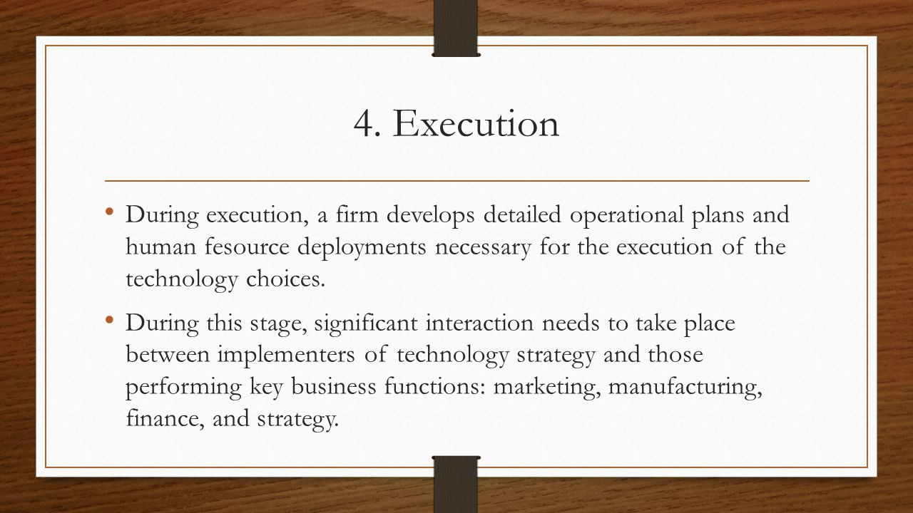 4. Execution
