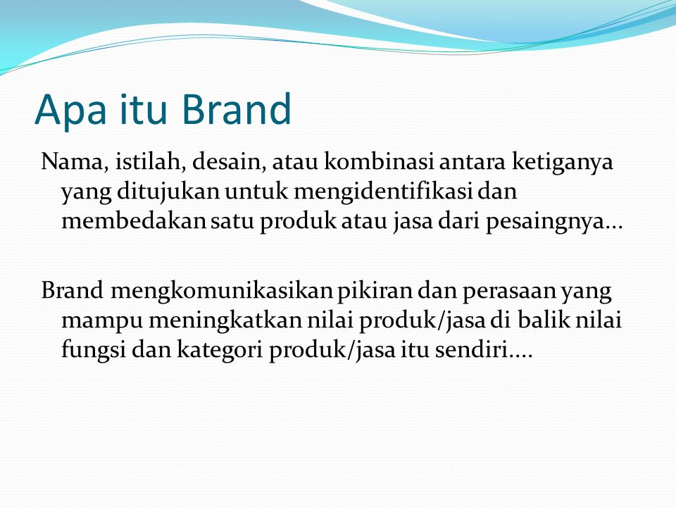 Apa itu Brand