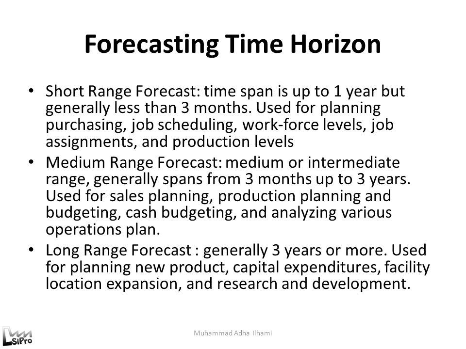Forecasting Time Horizon