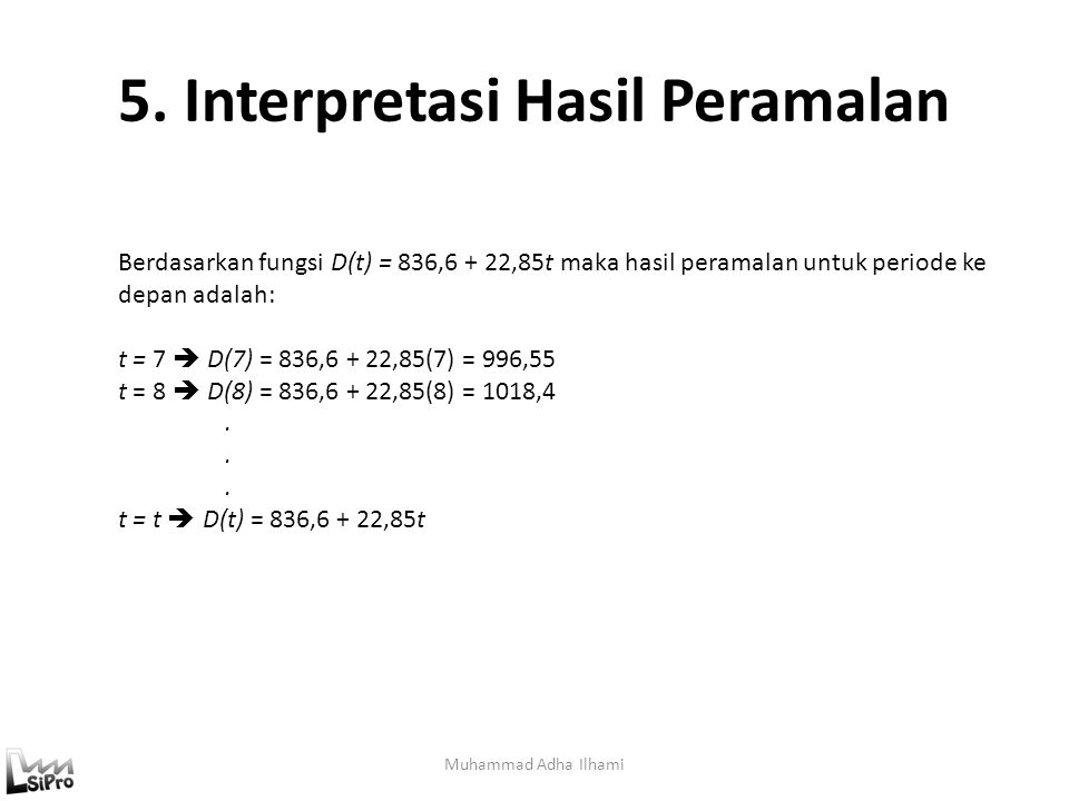 5. Interpretasi Hasil Peramalan