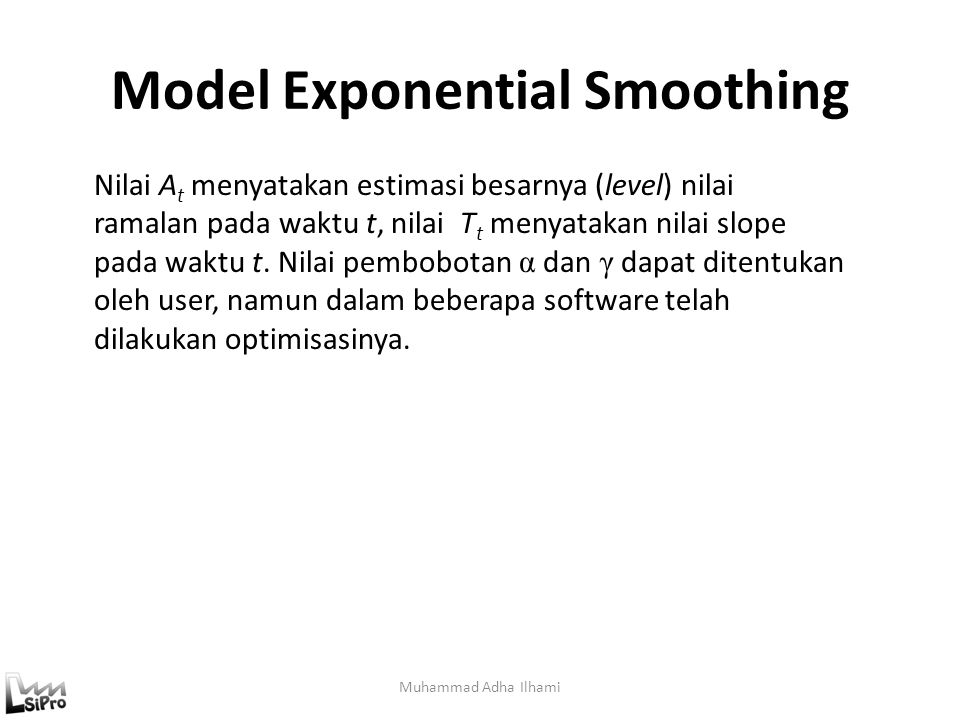 Model Exponential Smoothing