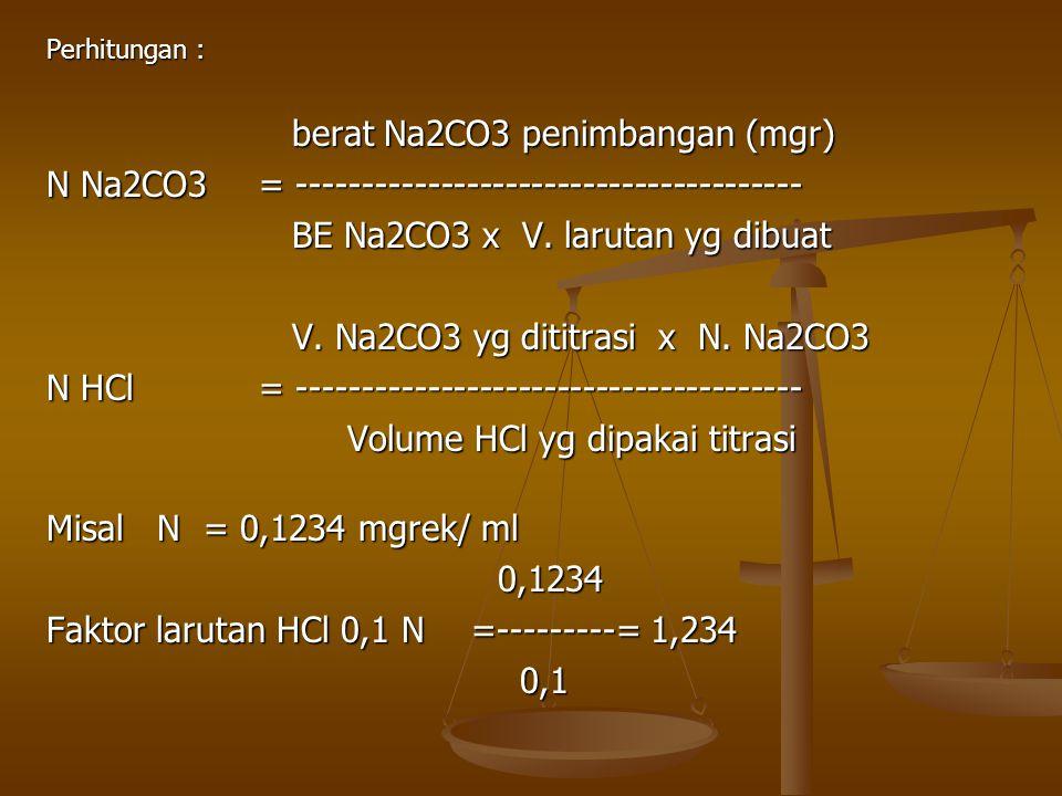 N Na2CO3 = ---------------------------------------