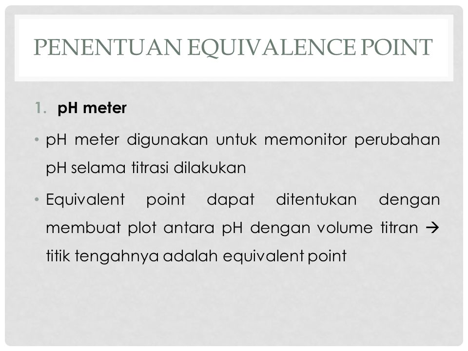 Penentuan equivalenCE point