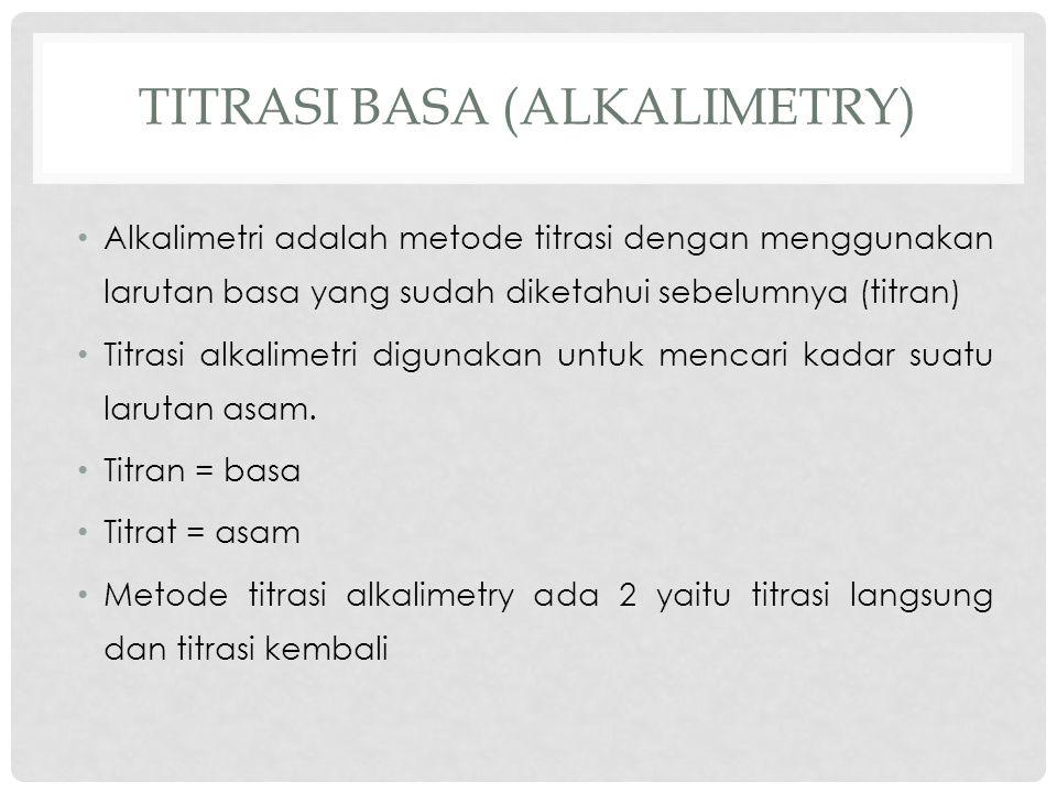 Titrasi basa (alkalimetry)