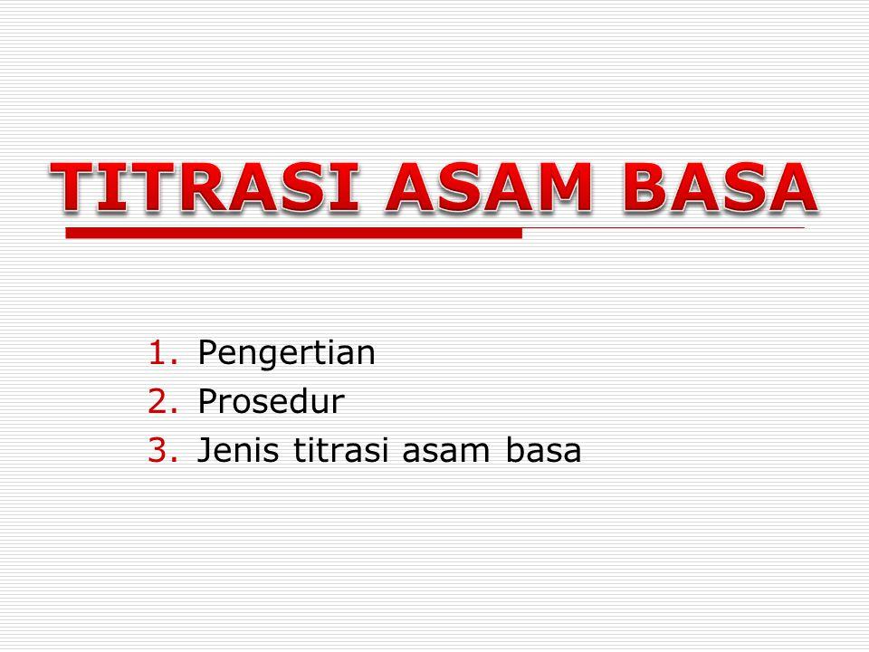 Pengertian Prosedur Jenis titrasi asam basa