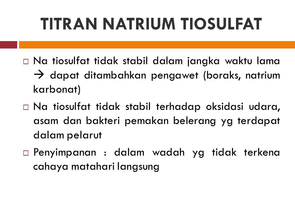 TITRAN NATRIUM TIOSULFAT