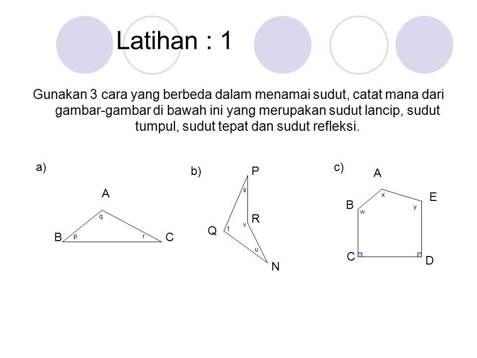 Latihan : 1