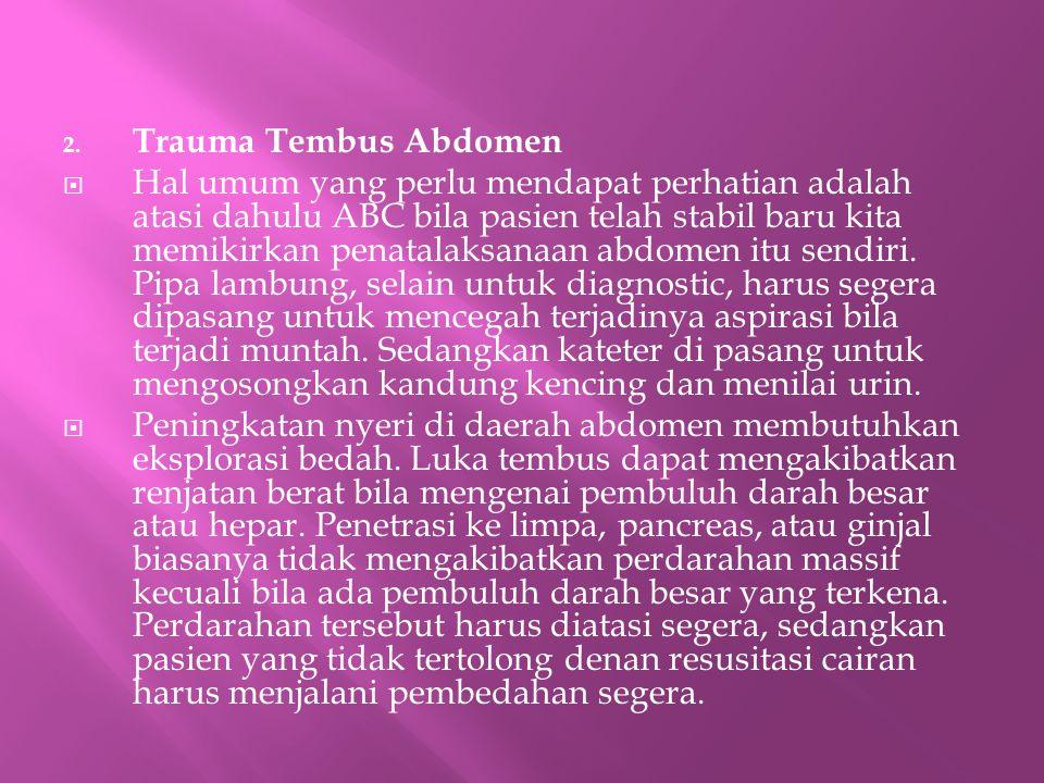 Trauma Tembus Abdomen