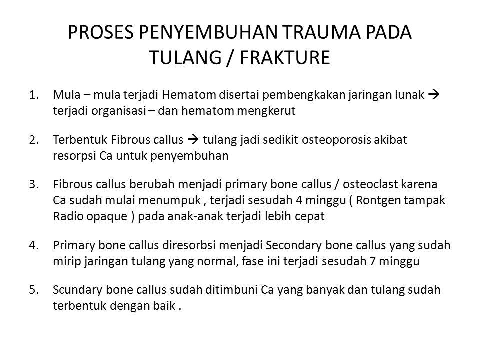 PROSES PENYEMBUHAN TRAUMA PADA TULANG / FRAKTURE
