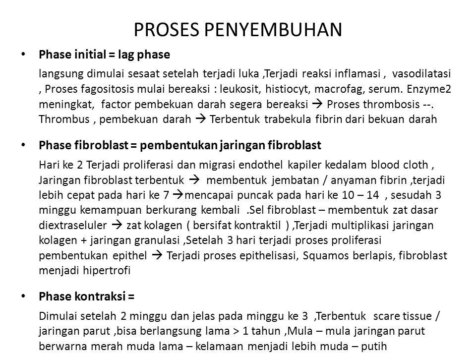 PROSES PENYEMBUHAN Phase initial = lag phase