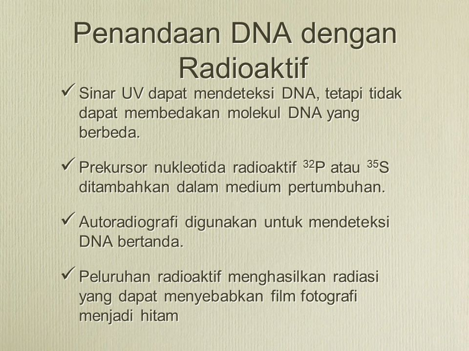 Penandaan DNA dengan Radioaktif