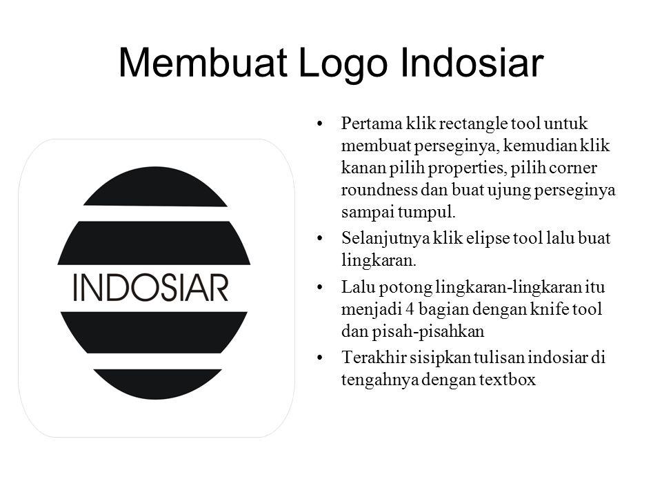 Membuat Logo Indosiar
