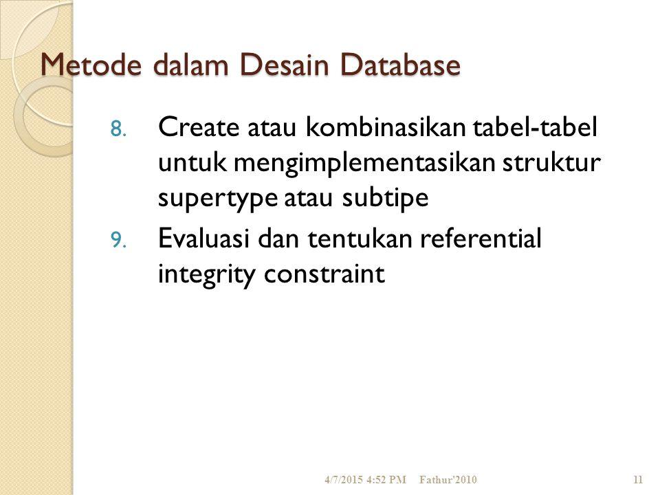 Metode dalam Desain Database