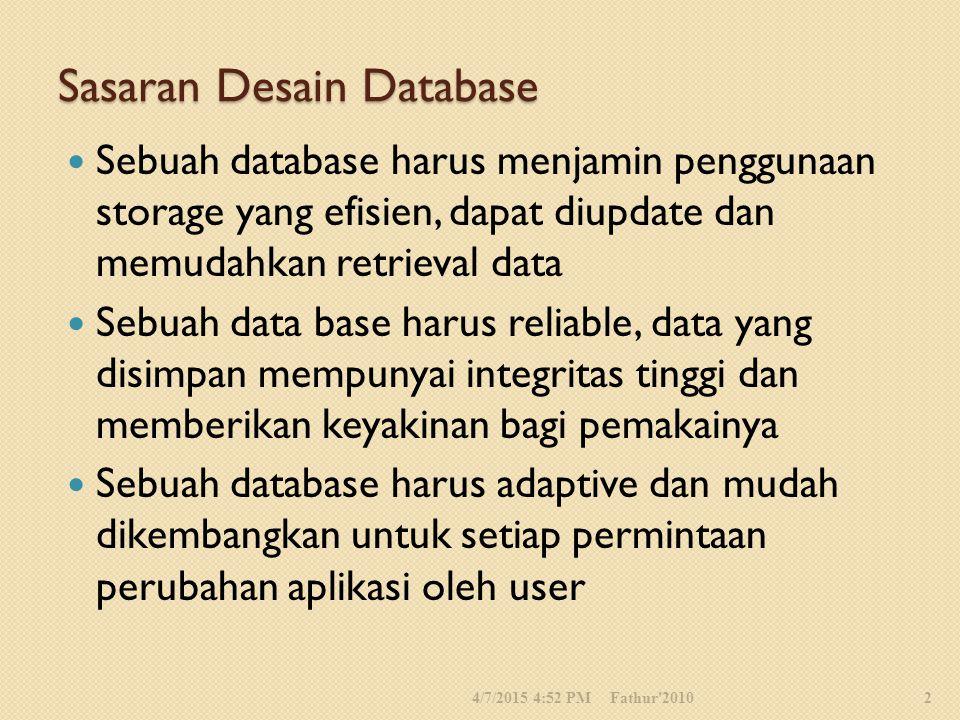 Sasaran Desain Database