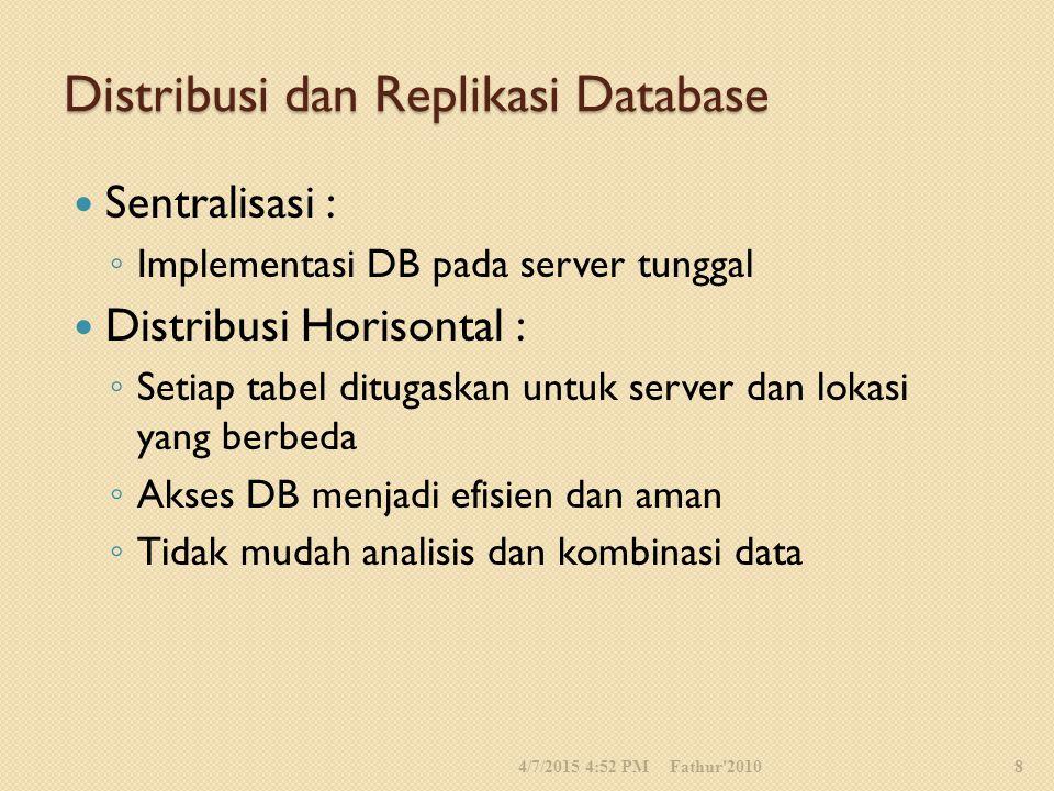 Distribusi dan Replikasi Database